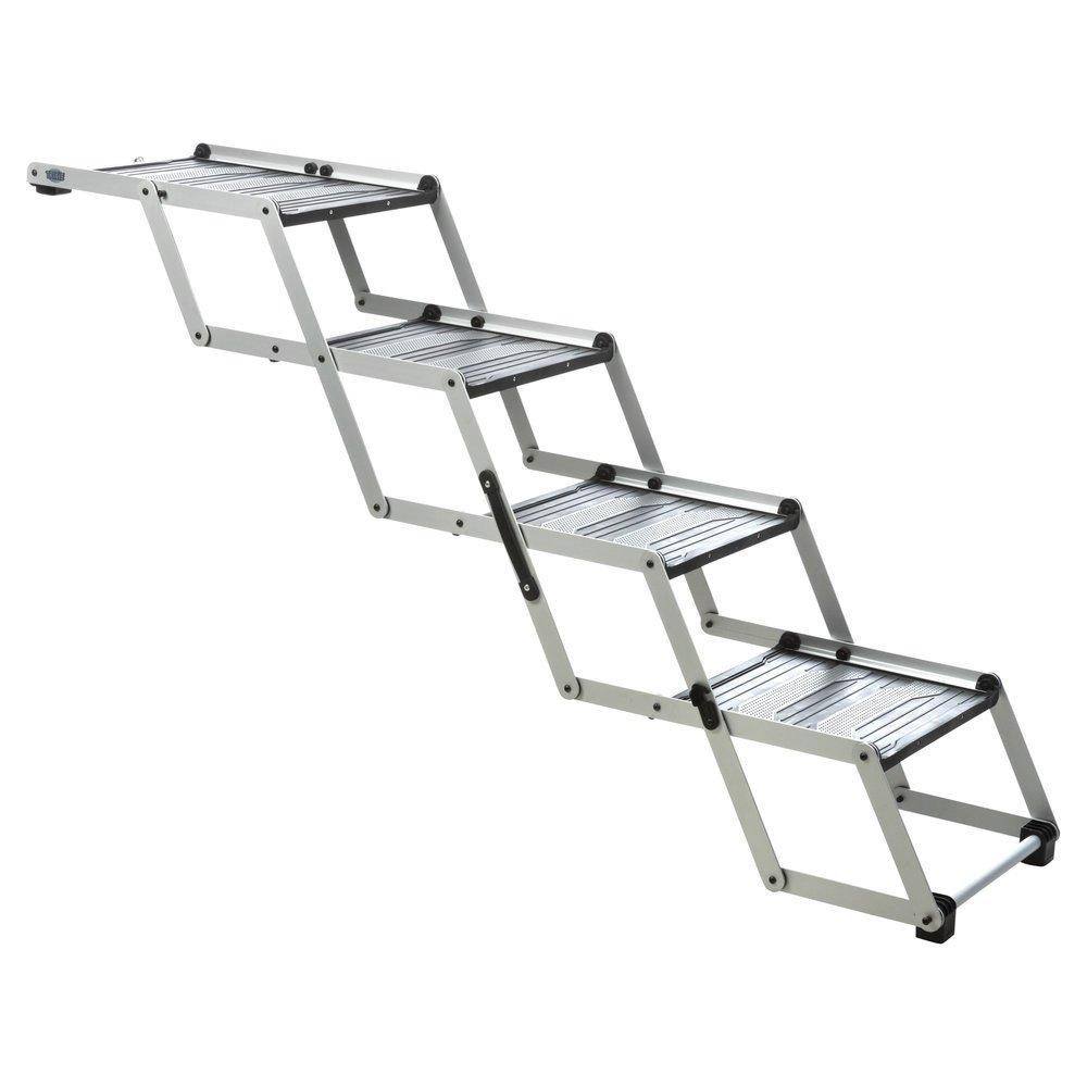 Trixie Hunderampe Falt-Treppe Petwalk, 4-stufig Tiefe bis 160 cm, Höhe bis 70 cm