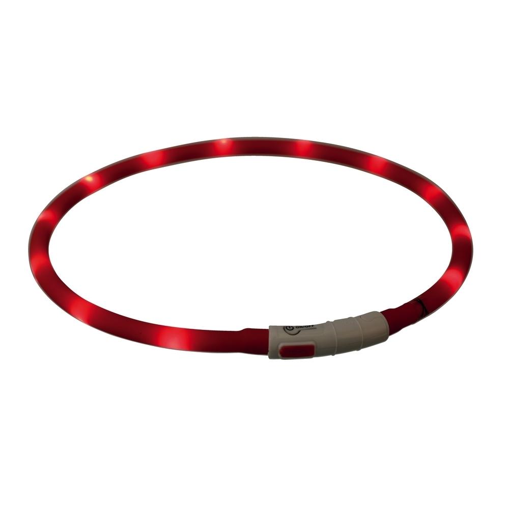 TRIXIE Hunde Leuchthalsband Leuchtring USB 12642