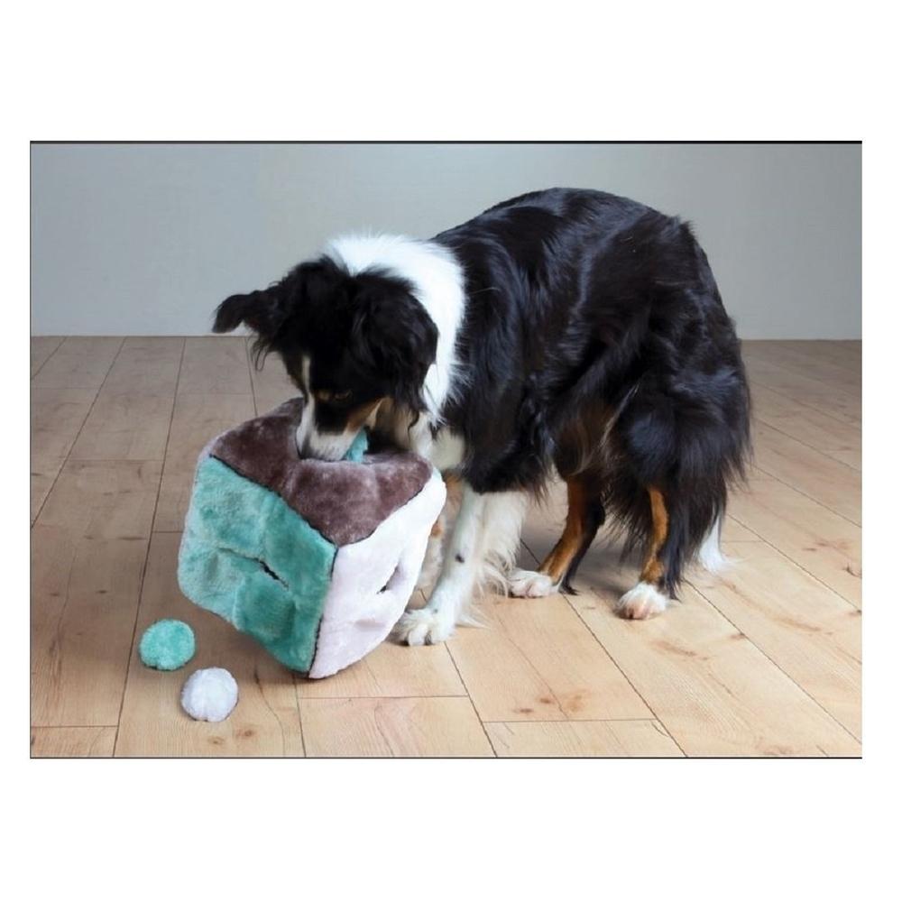 TRIXIE Hunde Plüschwürfel mit 4 Spielbällen 3613, Bild 2