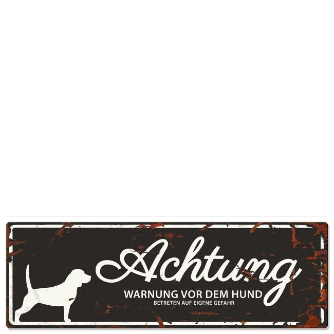 DREAM and DARE Hunde Warnschild Beagle Metall, Bild 2