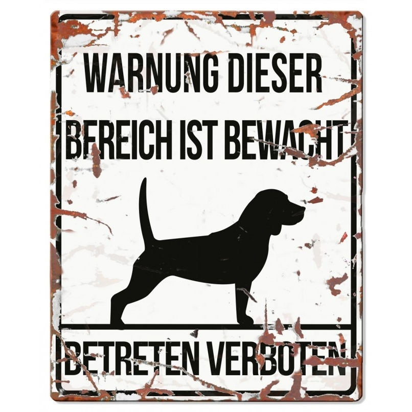 DREAM and DARE Hunde Warnschild Beagle Metall, Bild 4