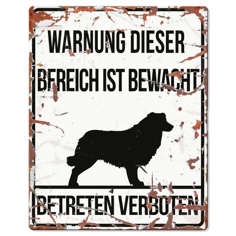 DREAM and DARE Hunde Warnschild Collie Metall, Bild 3