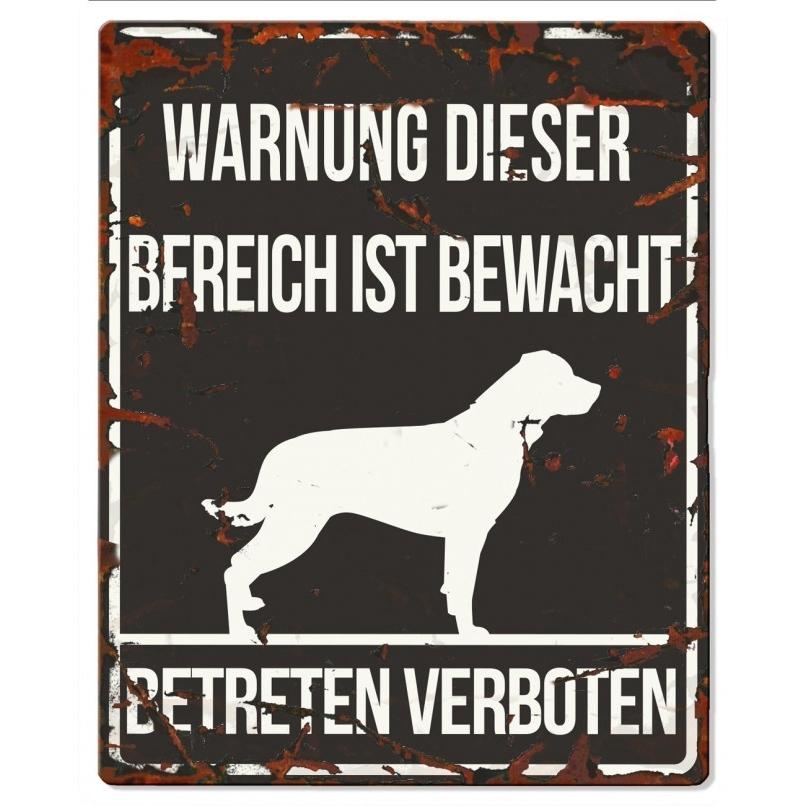 DREAM and DARE Hunde Warnschild Rottweiler