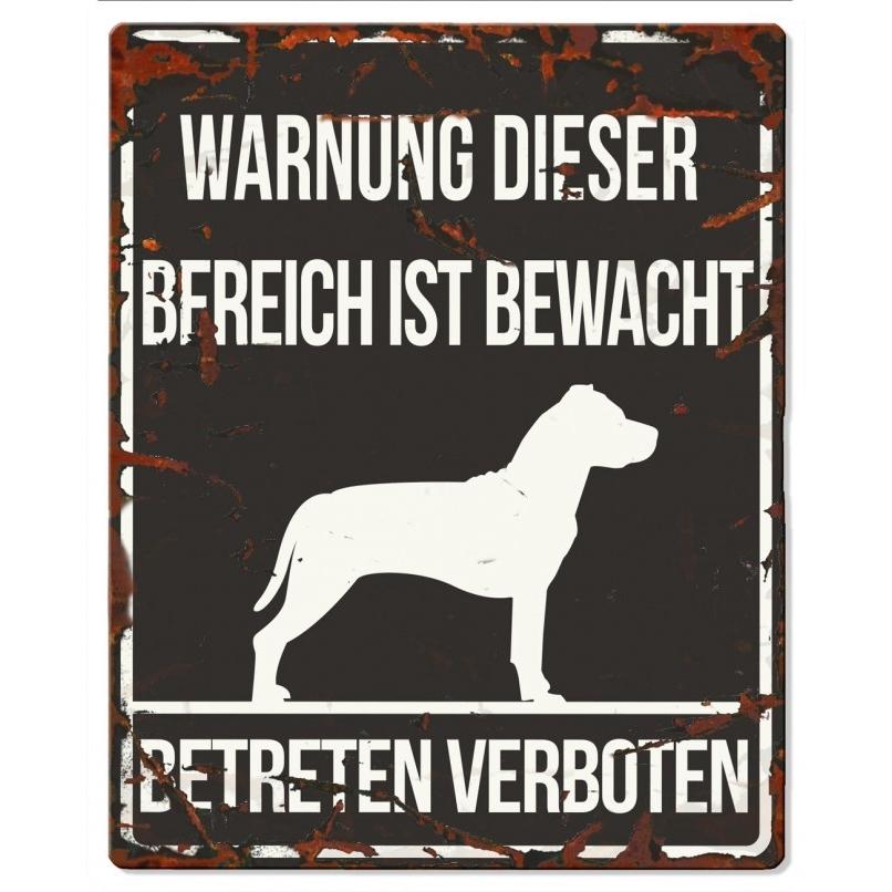 EBI Hunde Warnschild Stafford, 20 x 25 cm, schwarz