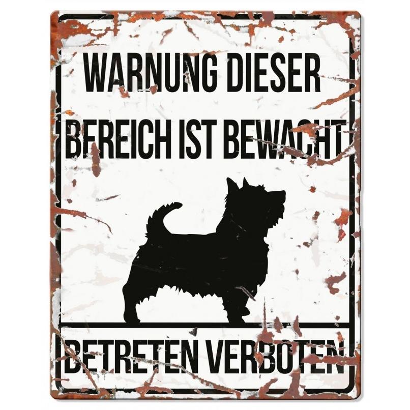 EBI Hunde Warnschild Terrier, 20 x 25 cm, weiß