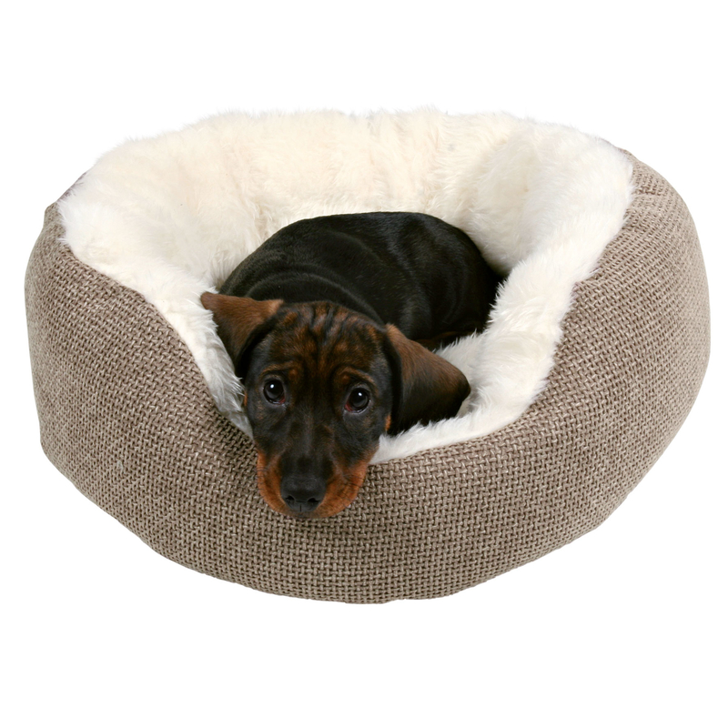 Trixie Hundebett Katzenbett Yuma, ø 45 cm, braun/wollweiß