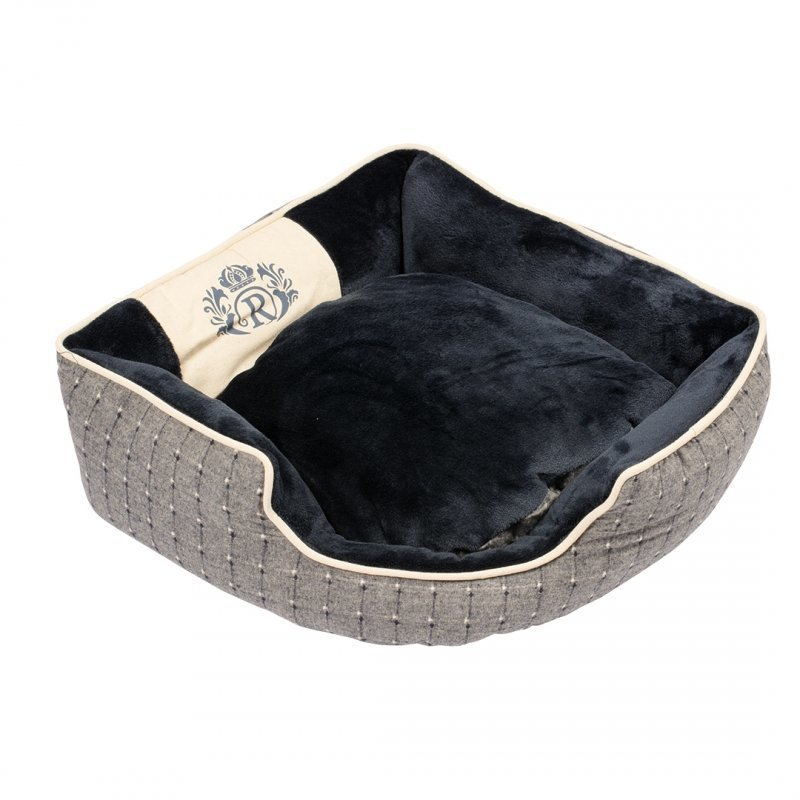 EBI Hundebett Royal mit extra dickem Kissen, 70 x 70 x 20 cm