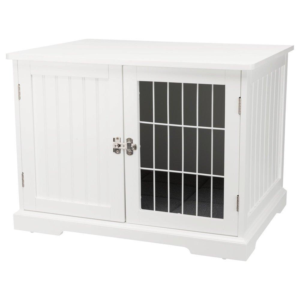 Trixie Hundebox für Zuhause, M: 73 × 53 × 53 cm, weiß