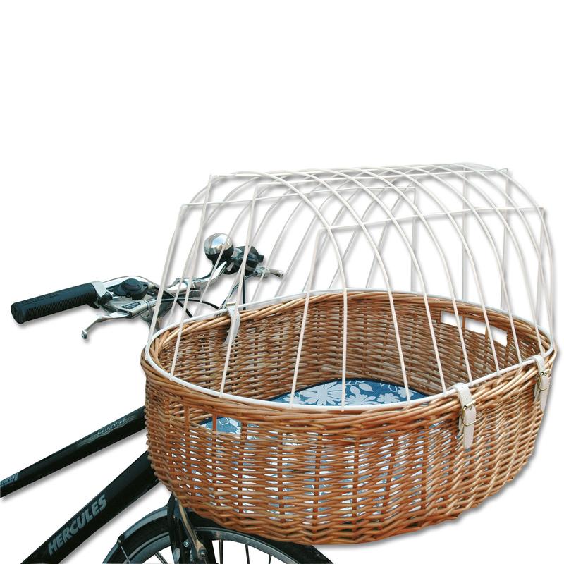 Hundefahrradkorb Steuerkopfmontage vorne von Aumüller, Standard, L 52 cm x B 38 cm x H 18/40 cm, Steuerkopfmontage vorne, belastbar bis 12 kg