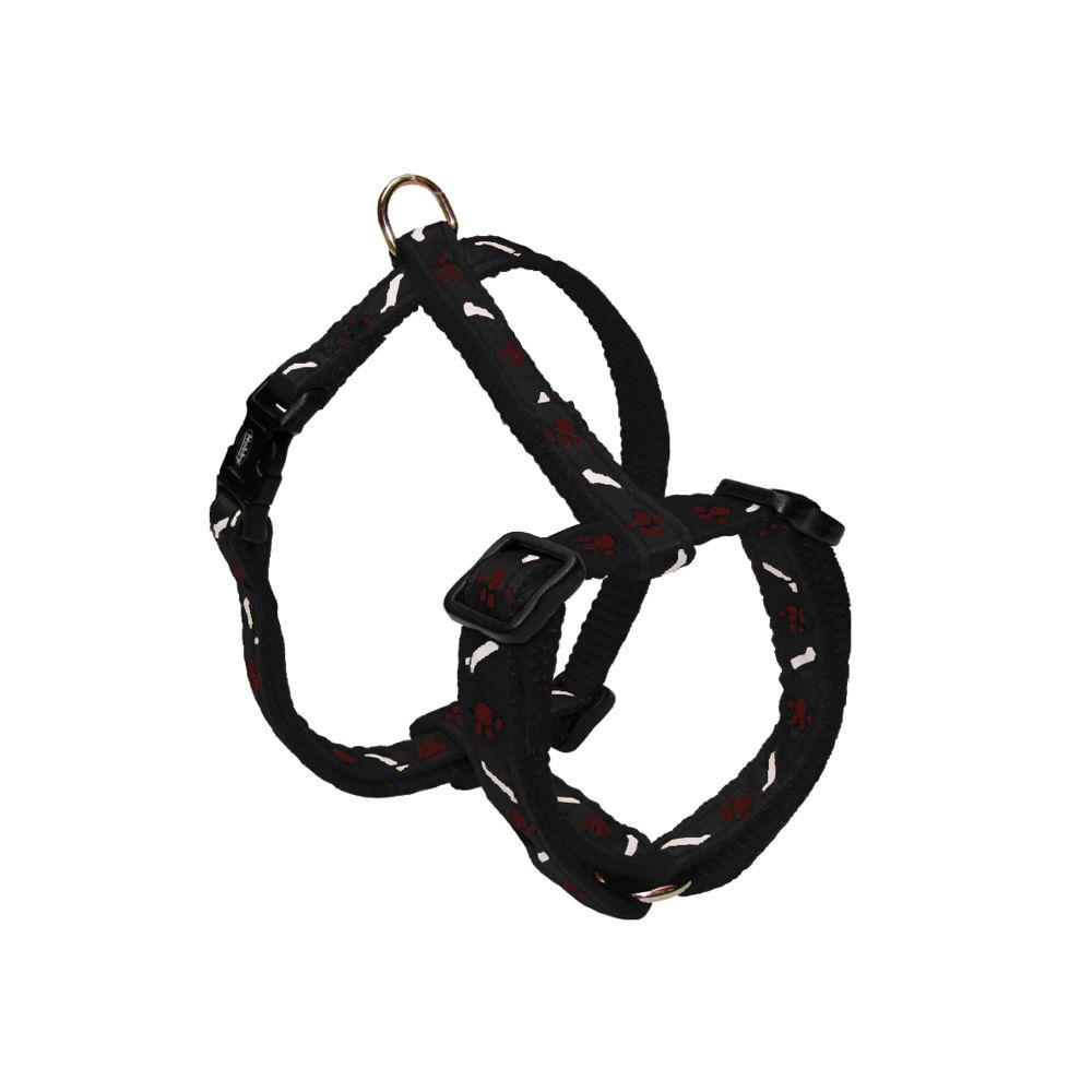 Nobby Hundegeschirr Nylon Mini für Welpen und kleine Hunde, Brust 20-35 cm, B: 10 mm, schwarz