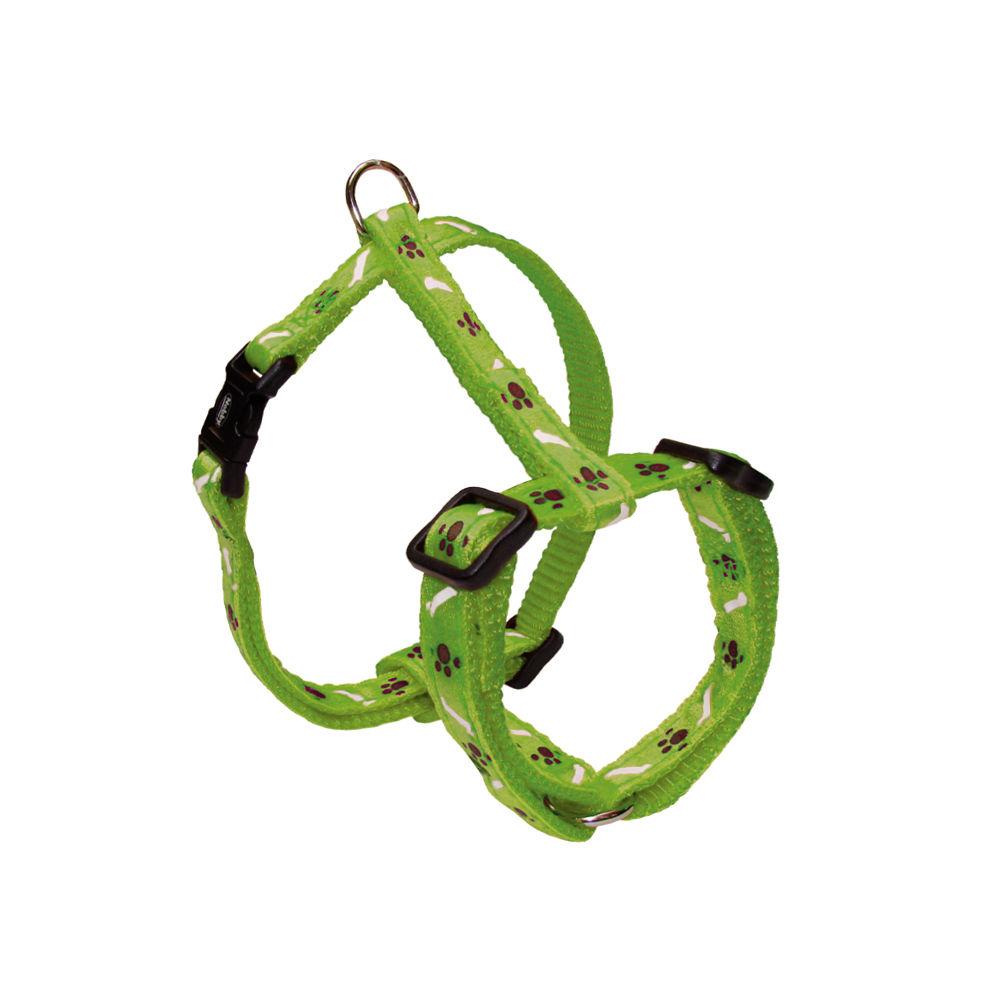 Nobby Hundegeschirr Nylon Mini für Welpen und kleine Hunde, Brust 20-35 cm, B: 10 mm, hellgrün