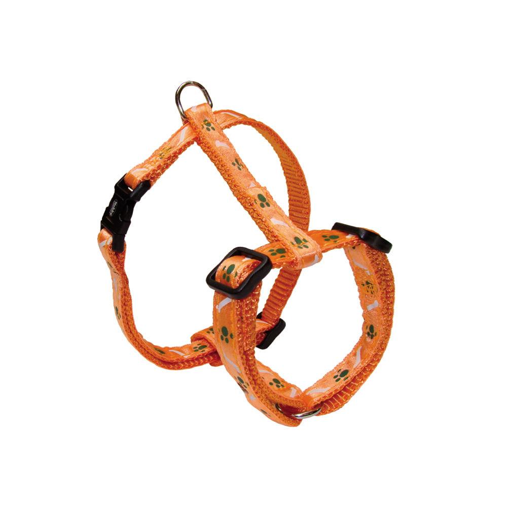 Nobby Hundegeschirr Nylon Mini für Welpen und kleine Hunde, Brust 20-35 cm, B: 10 mm, orange