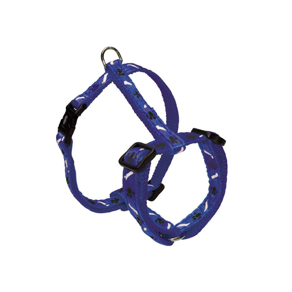 Nobby Hundegeschirr Nylon Mini für Welpen und kleine Hunde, Brust 20-35 cm, B: 10 mm, blau