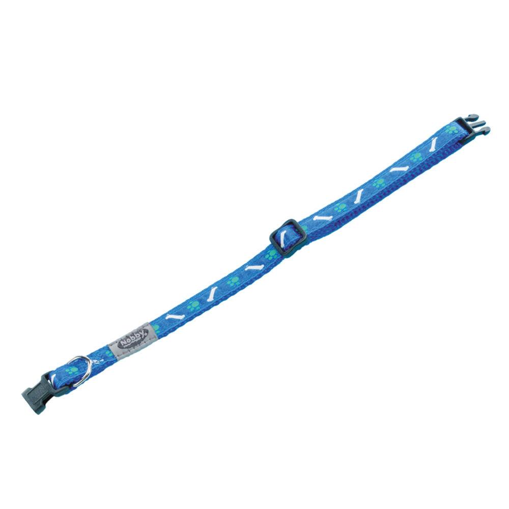 Nobby Hundehalsband Mini für Welpen und kleine Hunde, L: 13-20 cm; B: 10 mm, blau