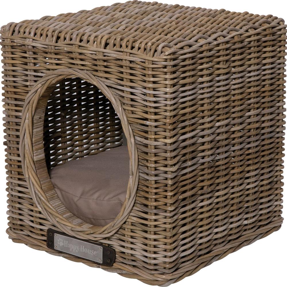 Happy House Hundehöhle Katzenhöhle aus Rattan