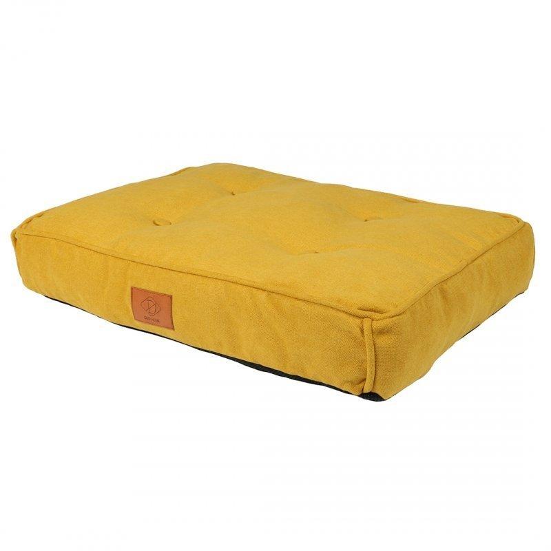 EBI Retro Hundekissen Eve im Chesterfield-Look, L, 90 x 65 x 12 cm, gelb