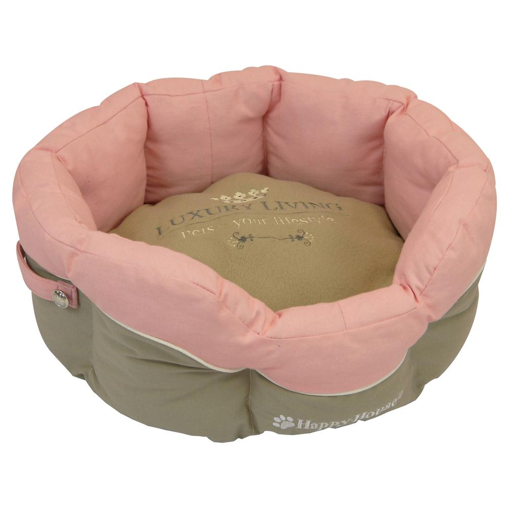 Happy House Hundekorb Katzenkorb Bettchen Luxury Living, 46 x 46 x 21, rosa