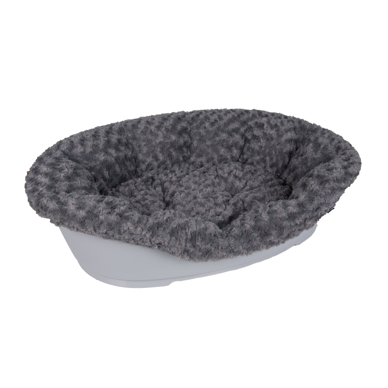 Karlie Hundekorb Kunststoff Bezug Cuddly, für 95 cm Korb, grau, nur Bezug, ohne Korb