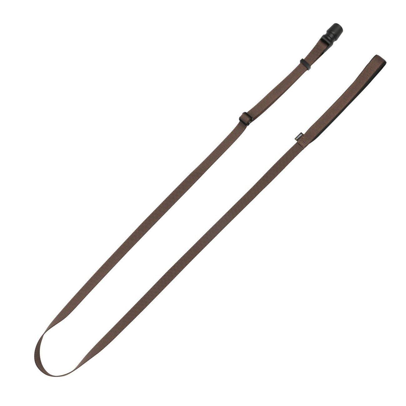 Hundeleine Flat GoLeyGo 2.0, braun, 20mm x 140-200cm