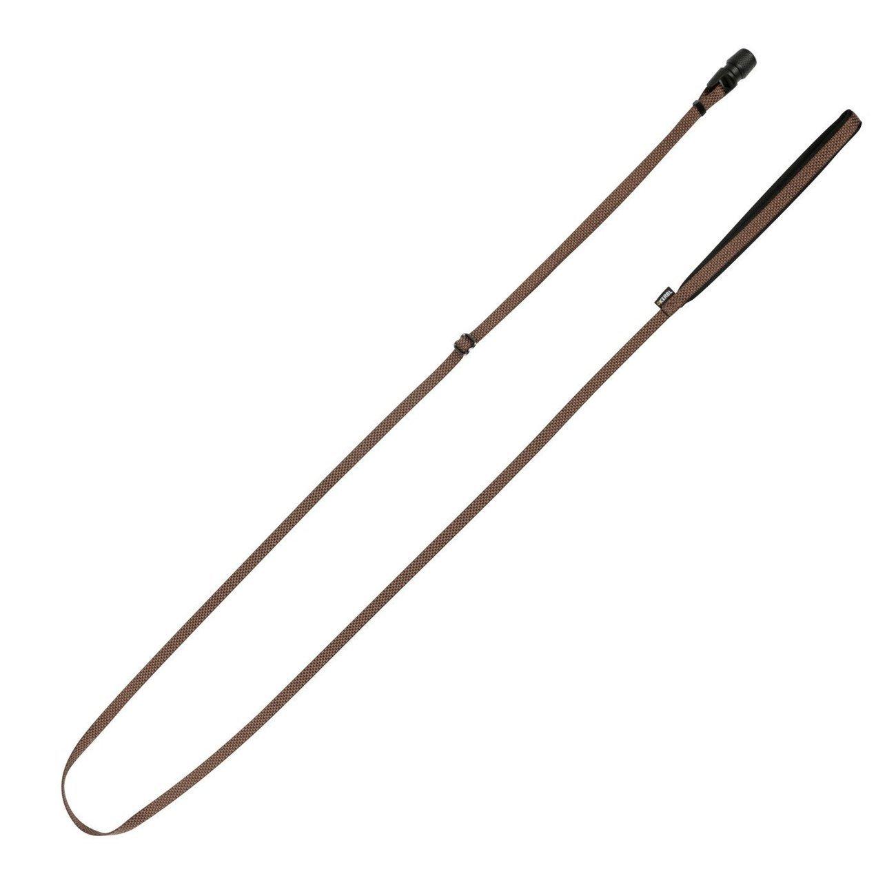 Hundeleine Flat GoLeyGo 2.0, braun, 10mm x 140-200cm