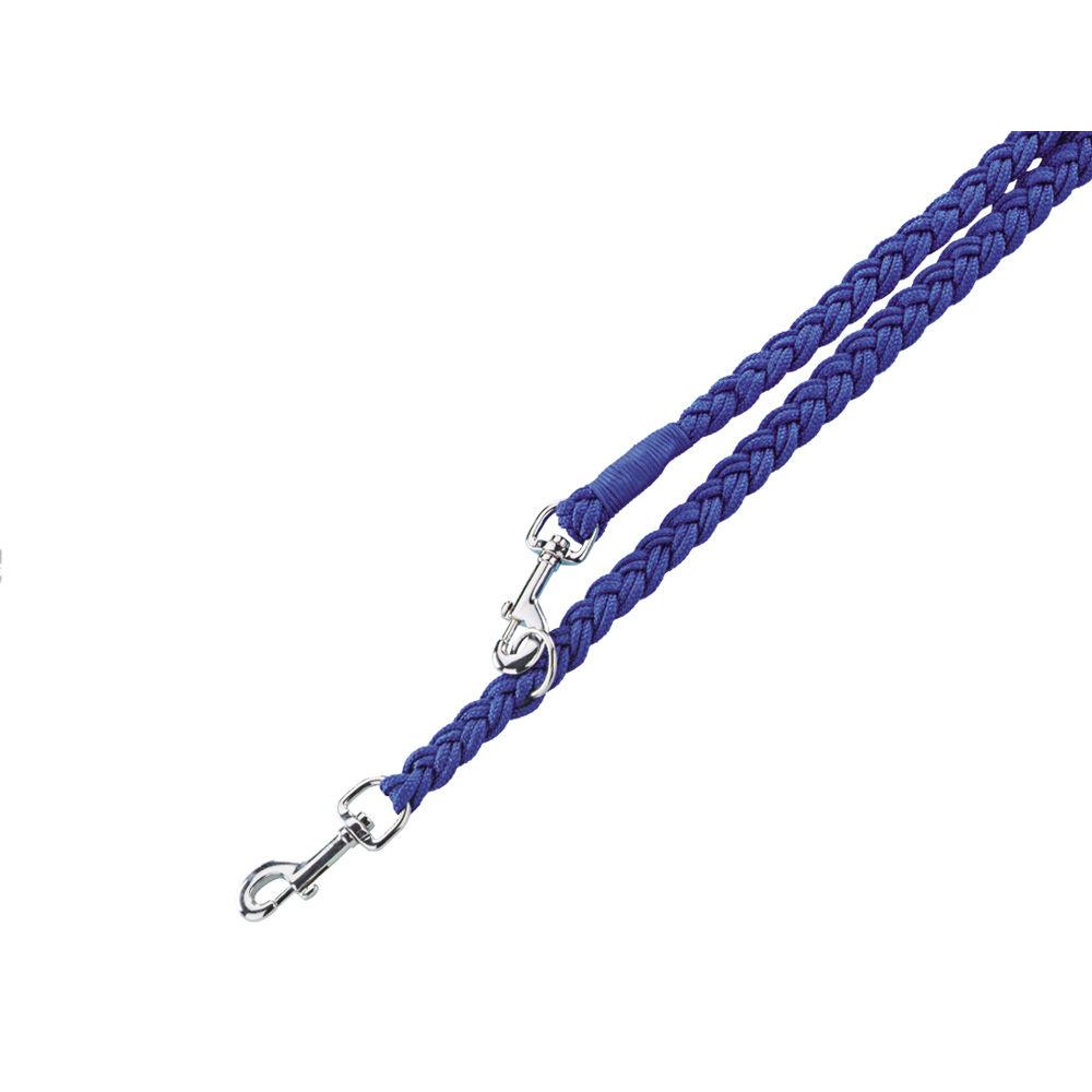Nobby Hundeleine geflochten Nylon, L: 200 cm; B: 16 mm, blau