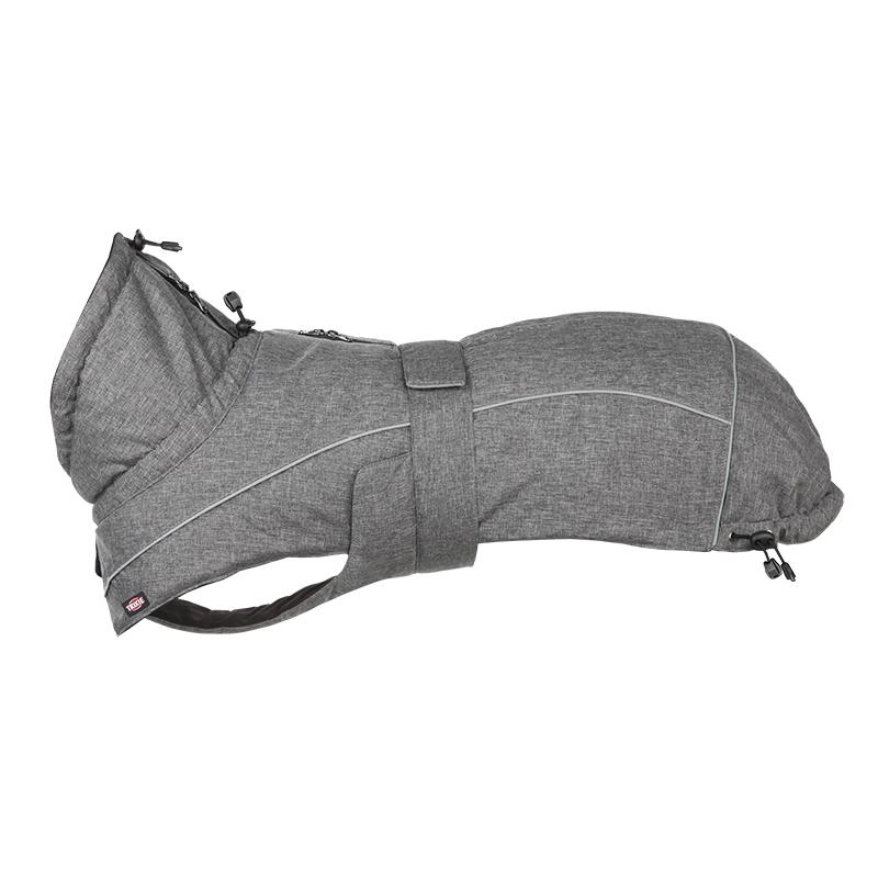Trixie Hundemantel Prime wasserdicht mit Teflon Beschichtung, S: Brust 37–55 cm, Rückenlänge 36 cm, grau
