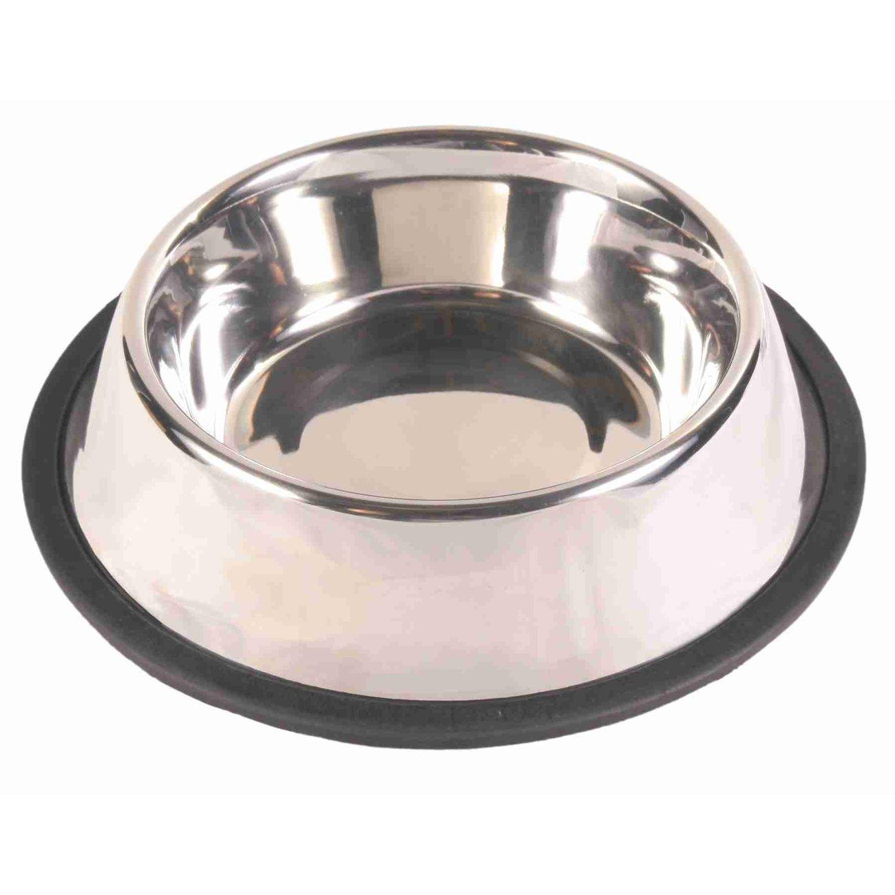 TRIXIE Hundenapf Edelstahl mit Gummiring, schwer 24851, Bild 2