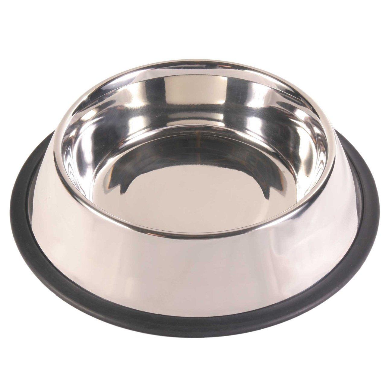 TRIXIE Hundenapf Edelstahl mit Gummiring, schwer 24851, Bild 4