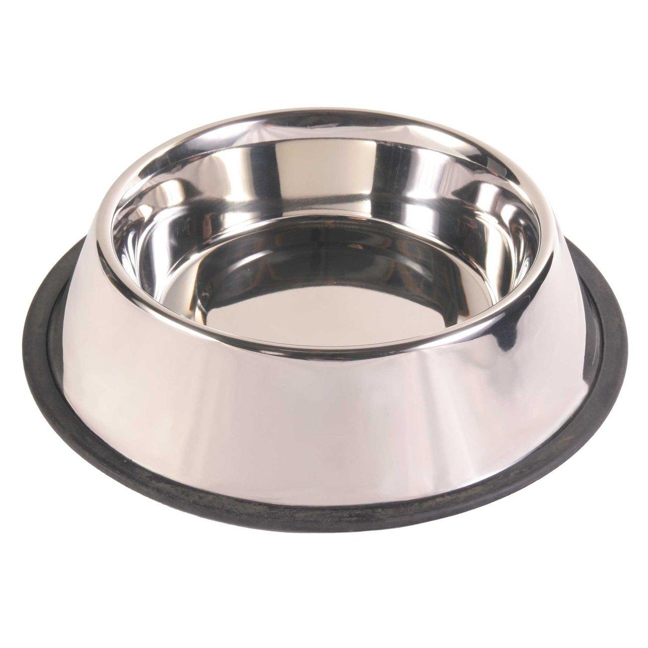 TRIXIE Hundenapf Edelstahl mit Gummiring, schwer 24851, Bild 5