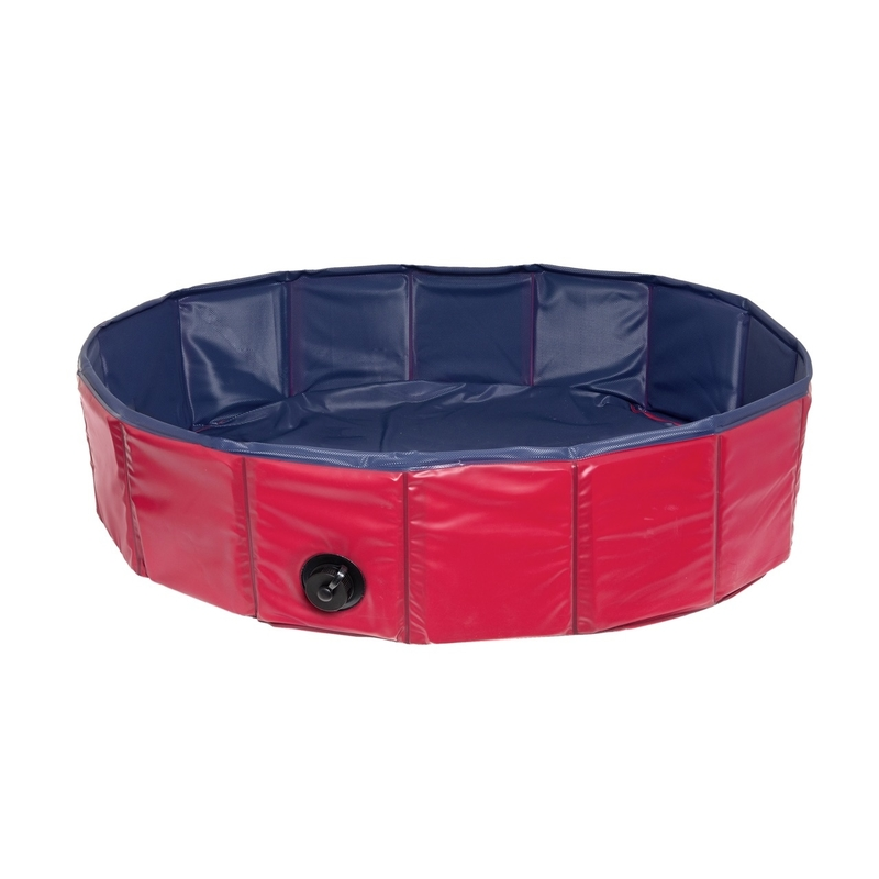 Karlie Hundepool Doggypool, blau/rot, 80x20cm