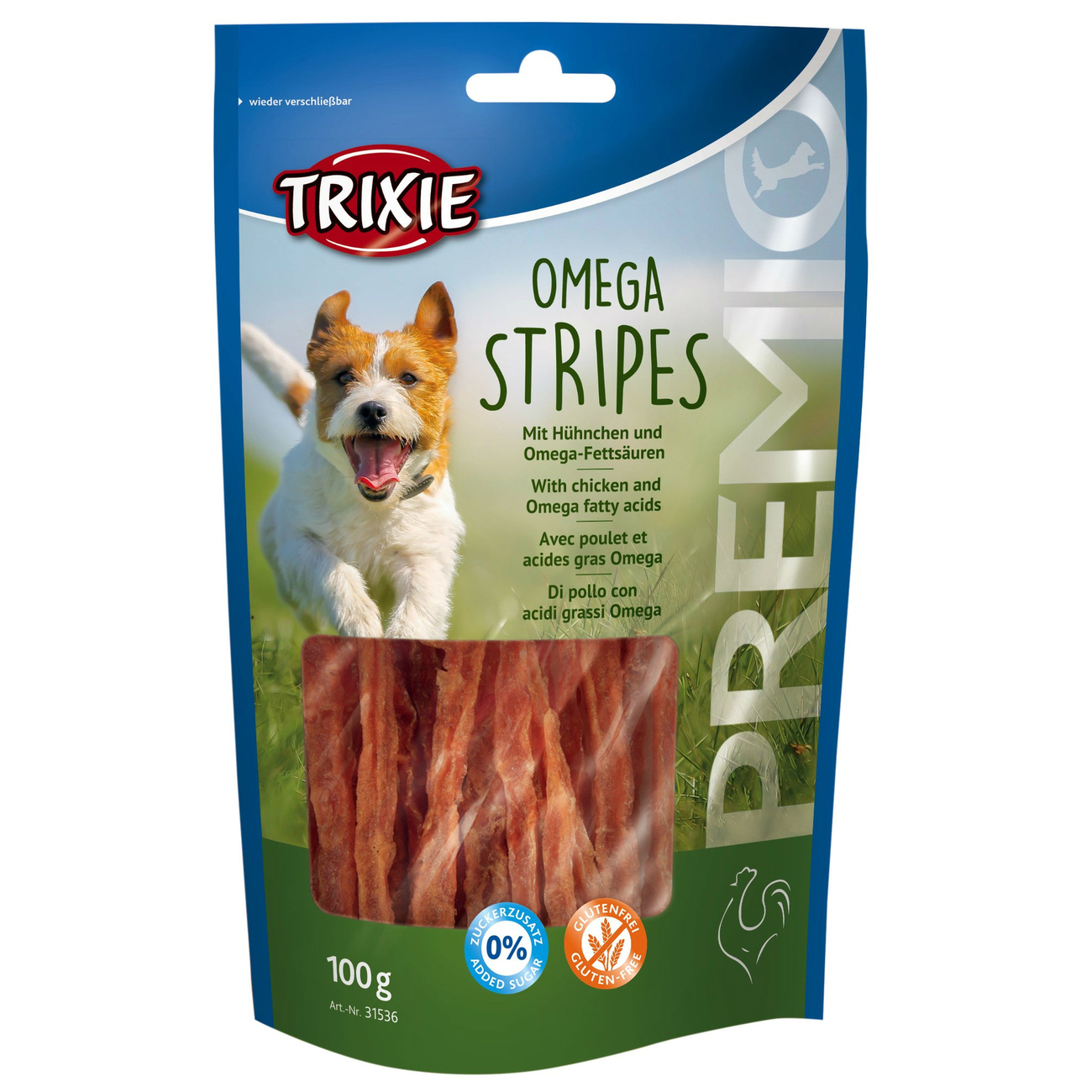 Trixie Hundesnack Omega Stripes mit Hühnchen 31536