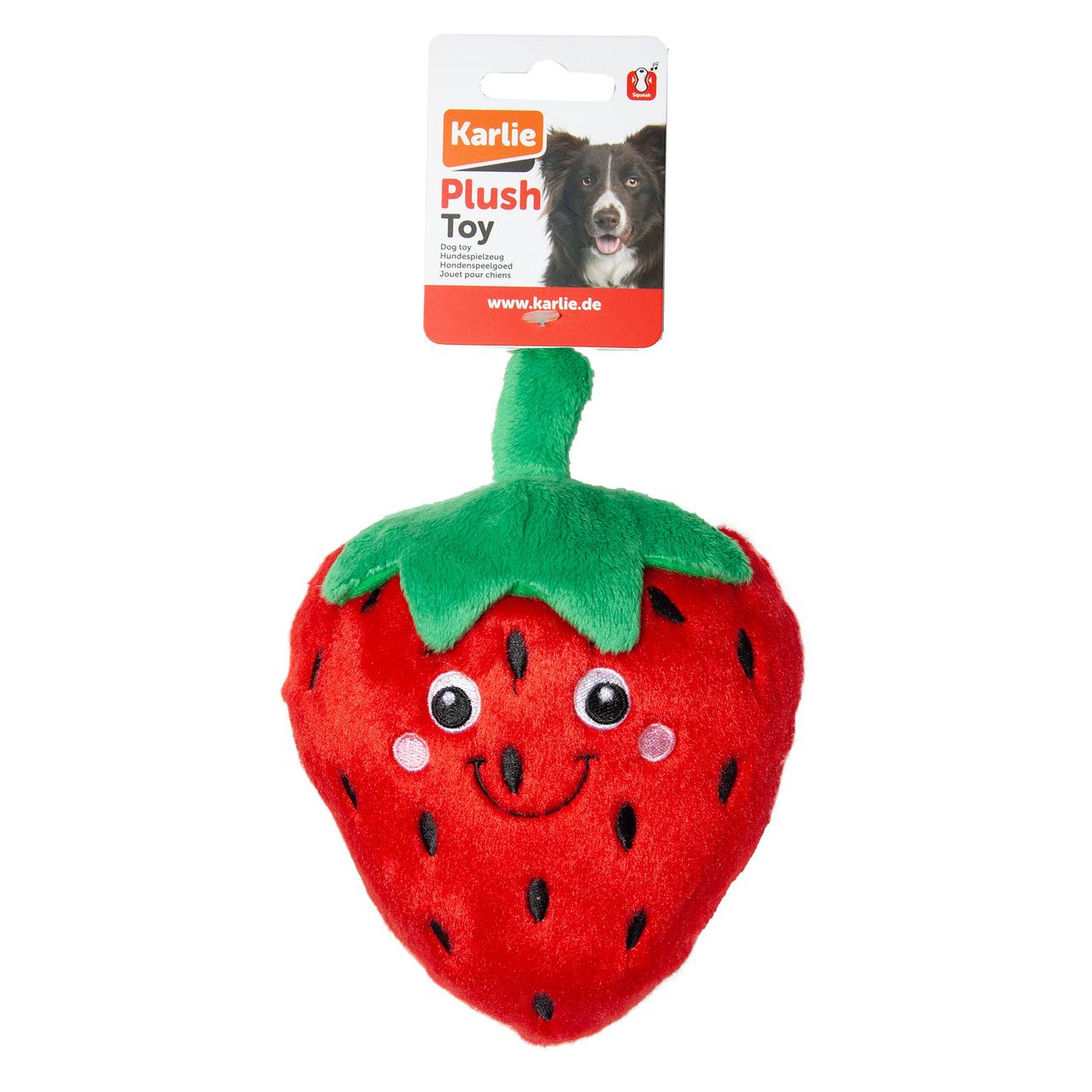 Karlie Hundespielzeug aus Plüsch Erdbeere