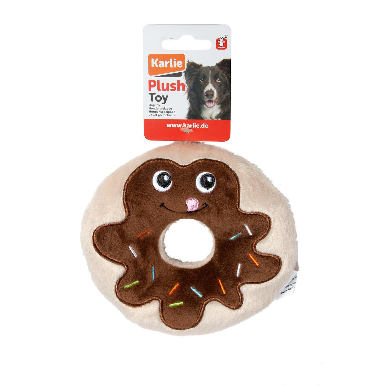 Karlie Flamingo Hundespielzeug aus Plüsch Schoko Donut