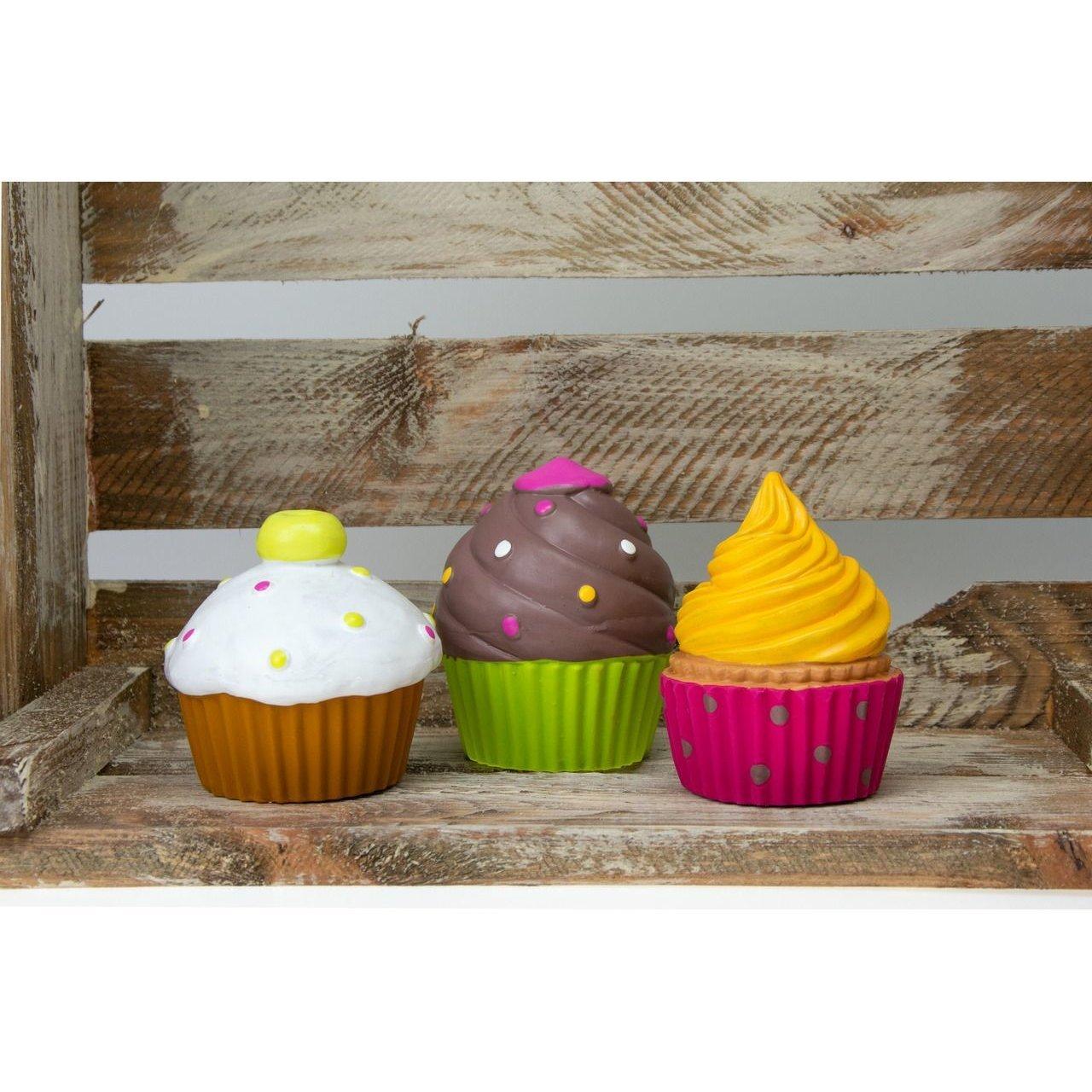 Karlie Hundespielzeug Cupcakes mit Squeaker, Cupcake, 9 x 9 x 9 cm