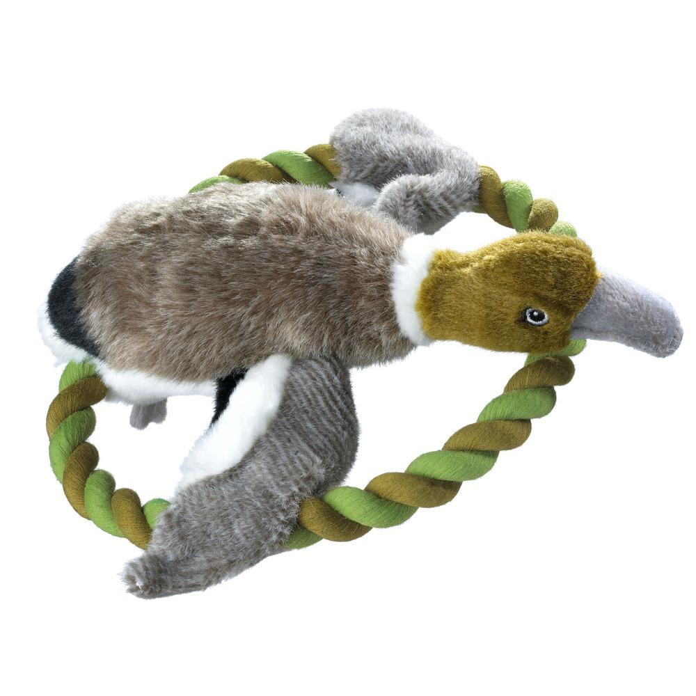 Hunter Hundespielzeug Plüsch Training Ente, Größe M, 27 cm