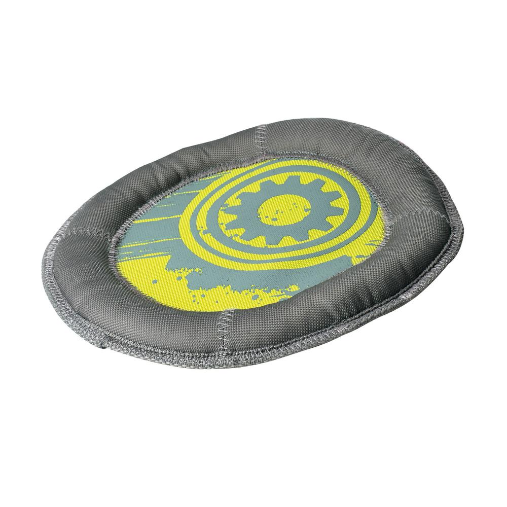 Hunter Hundespielzeug Swimming Tuff, Frisbee, 24 cm, grau-gelb