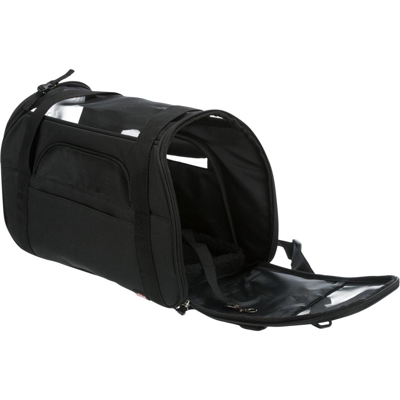Trixie Hundetragetasche Madison, 19 × 28 × 42 cm, 5 kg, schwarz