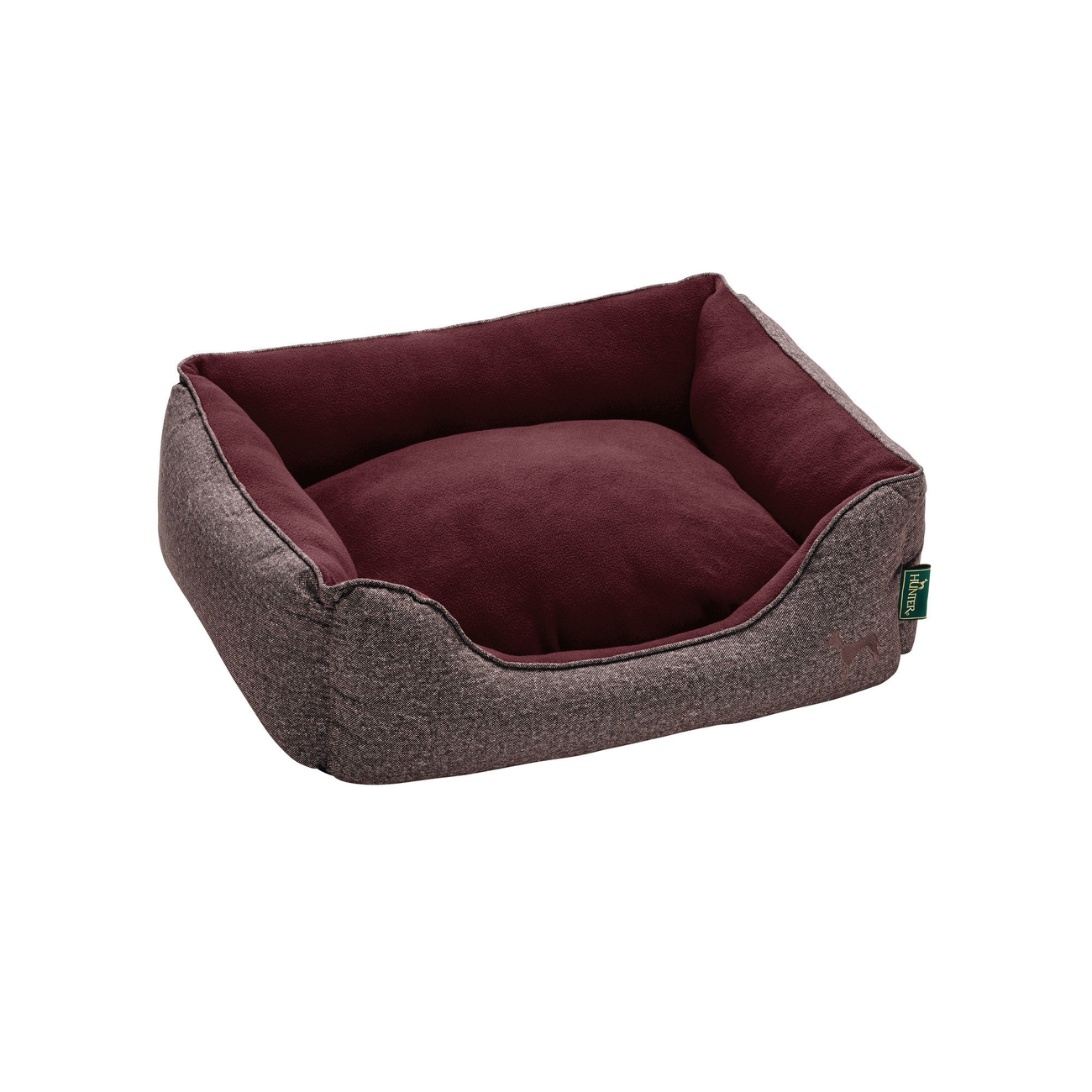 Hunter Hundebett Boston Cozy, 60x50 cm, rot