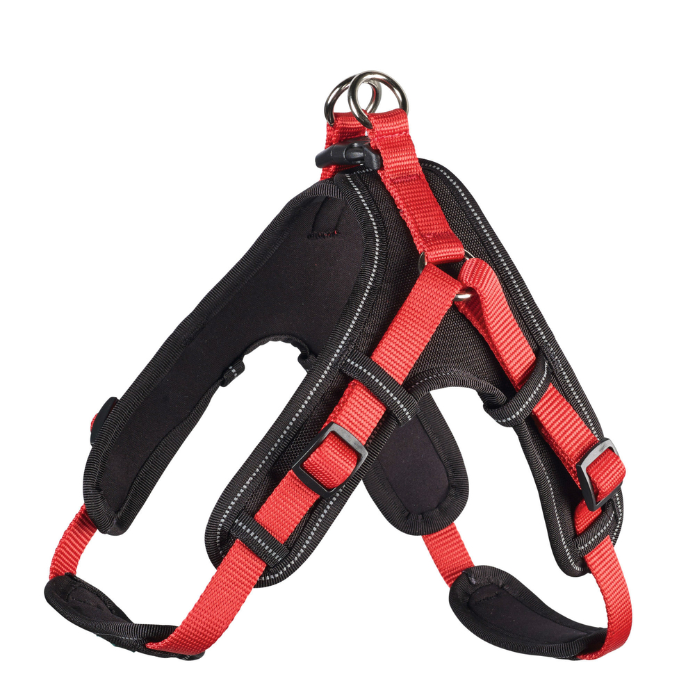Hunter Hundegeschirr Neopren Vario Quick, S 45-55 cm, 15 mm, rot
