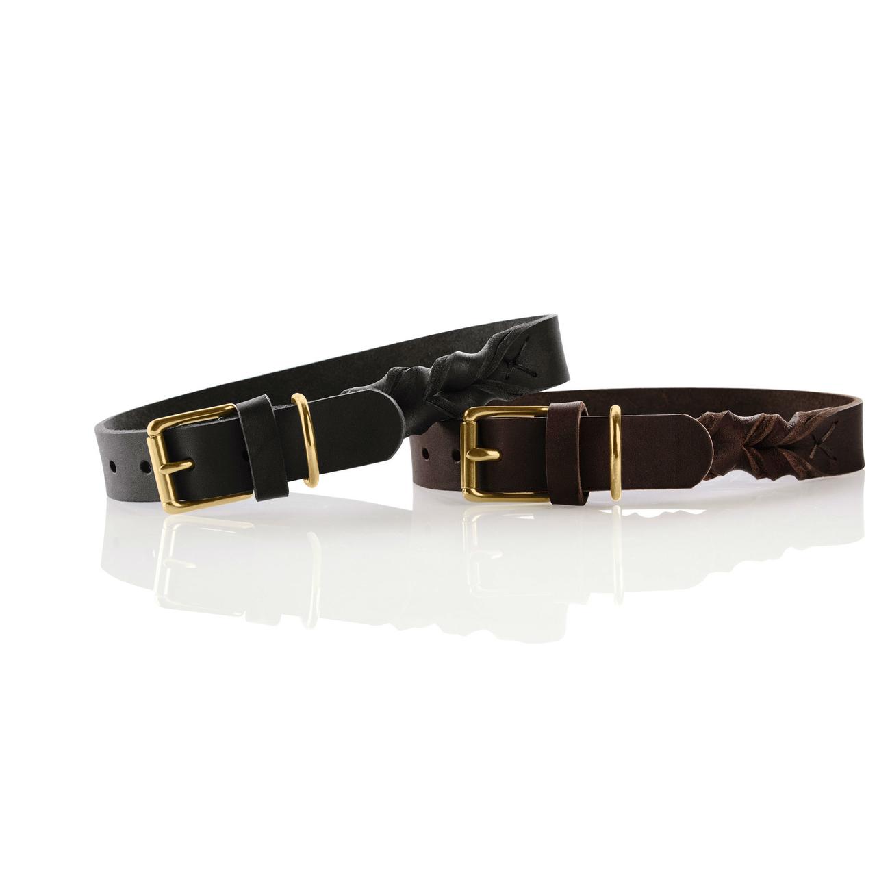 Hunter Leder Halsband Sansibar Solid 66856