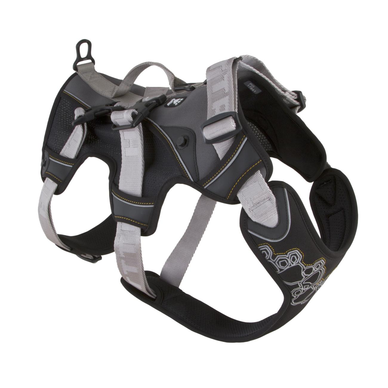 Hurtta Trail Geschirr, 75-95cm, schwarz-grau