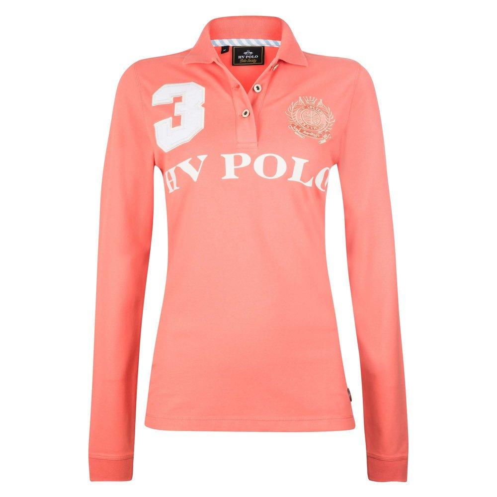 HV Polo Poloshirt Favouritas Eques lange Ärmel, Gr. S - rouge