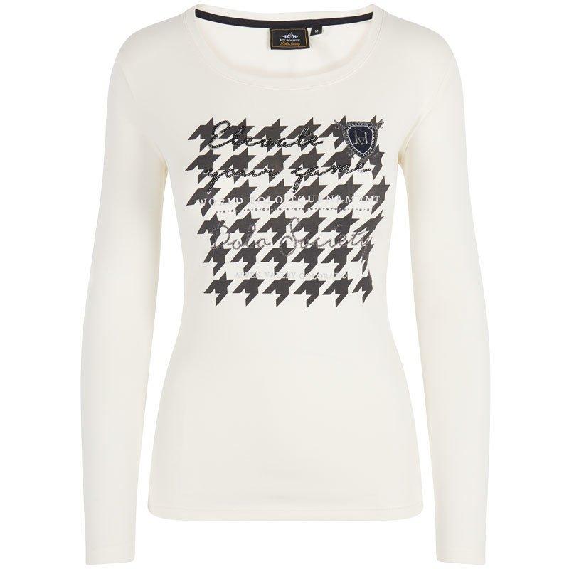 HV Polo Langarm T-Shirt Stephany, Gr. L - ecru