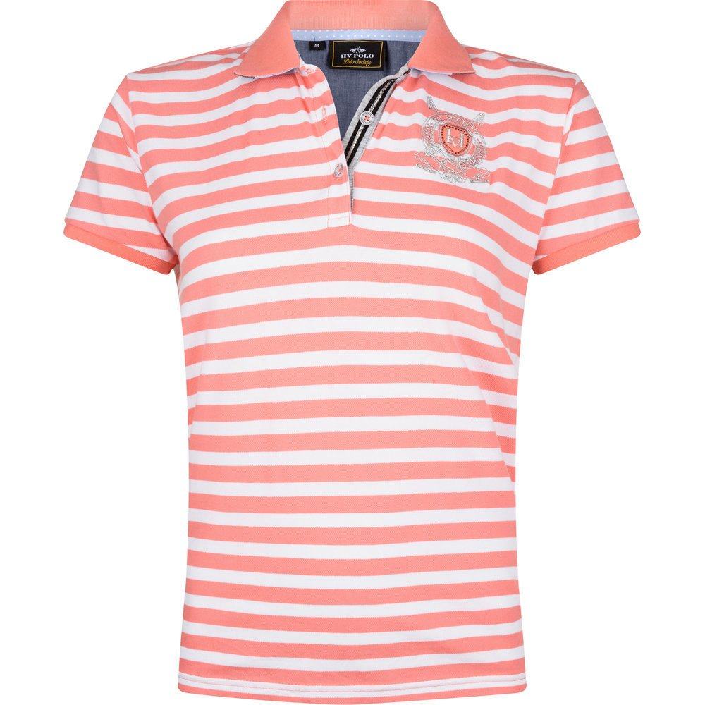 HV Polo Poloshirt Ariel, Gr. XL - coral pink-optical white