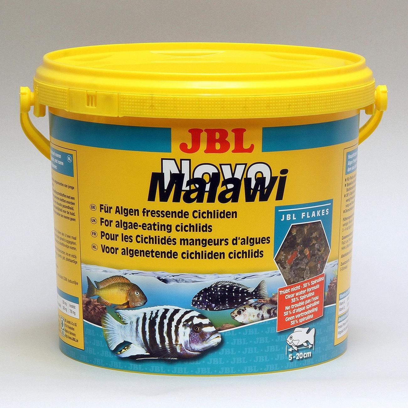 JBL NovoMalawi Hauptfutter für algenfressende Buntbarsche, 5,5l