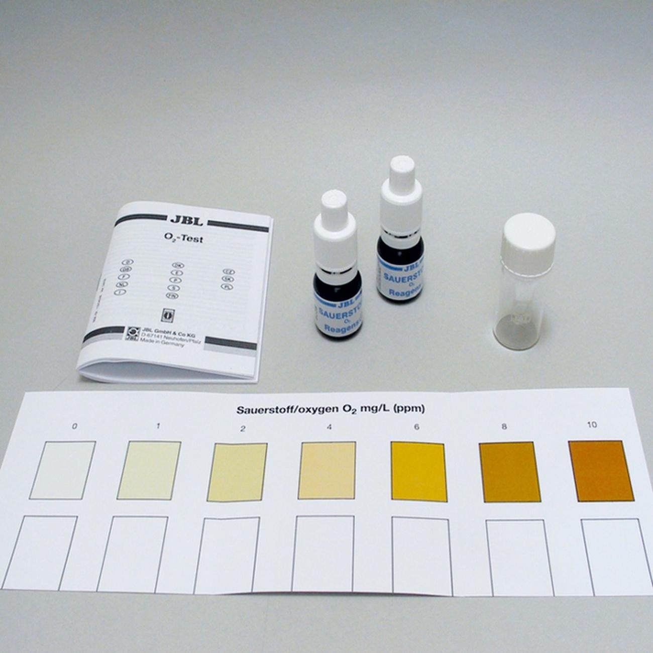 JBL O2 Sauerstoff Schnelltest zur Bestimmung des Sauerstoffgehalts in Süß-/Meerwasser-Aquarien & Teichen, Bild 2