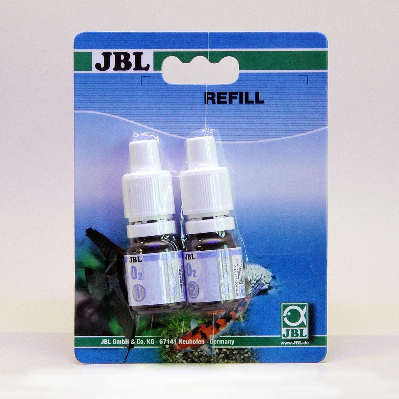JBL O2 Sauerstoff Schnelltest zur Bestimmung des Sauerstoffgehalts in Süß-/Meerwasser-Aquarien & Teichen, Nachfüllpack