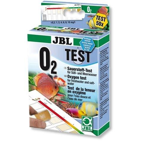 JBL O2 Sauerstoff Schnelltest zur Bestimmung des Sauerstoffgehalts in Süß-/Meerwasser-Aquarien & Teichen, Test-Set für 50 Tests