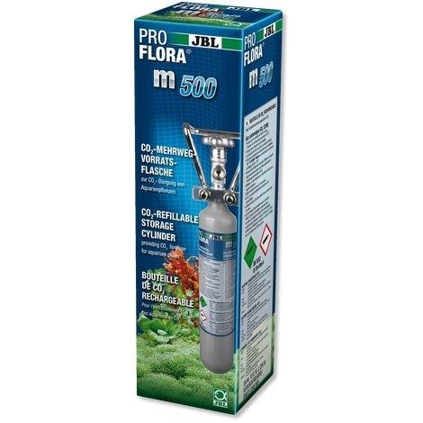 JBL ProFlora m500 SILVER, Mehrweg-Flasche mit 500 g CO2, Maße: 43 x 11 cm
