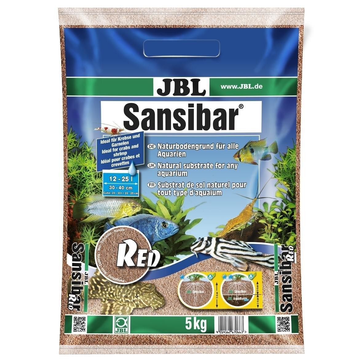 JBL Sansibar RED Bodengrund für Süß- und Meerwasser-Aquarien, 5kg